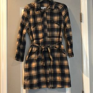 See by Chloe Plaid Button-up Shirtdress